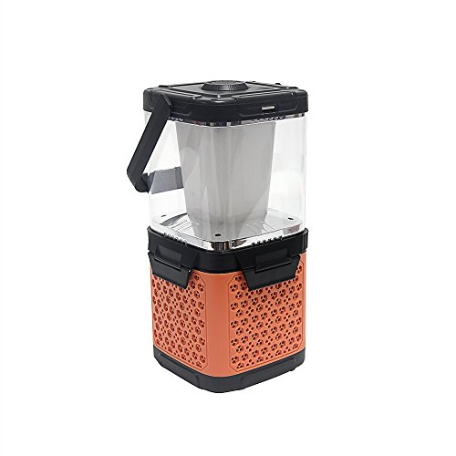 UBOWAY Portable USB Salt Water Powered LED Lantern Lamp Emergency Night Light For Camping Outdoor Activities (Orange)