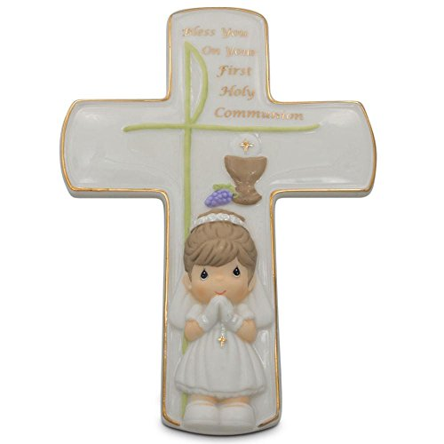 BestPysanky Holy Communion Girl Religious Wall or Standing Cross 7.5 Inches ()