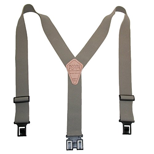 Perry Suspenders Mens Elastic Hook End 2 Inch Work Suspenders (Tall Available), Tall, Tan