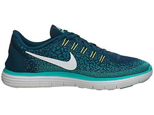 Nike Heren Vrije Rn Afstand Hardloopschoen Middernacht Turquoise / Crème / Blauwgroen 10 D (m) Ons