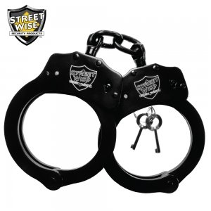 Solid Steel Baton (Streetwise Black Solid Steel Handcuffs)
