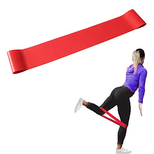 SANGAITIANFU Natural Latex Workout Bands,Pilates Flexbands,Resistance Exercise Loop Bands for Home Fitness, Crossfit, Stretching, Strength Training, Physical Therapy (red)