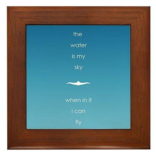 Framed Tile Sky - CafePress - Water is My Sky - Framed Tile, Decorative Tile Wall Hanging