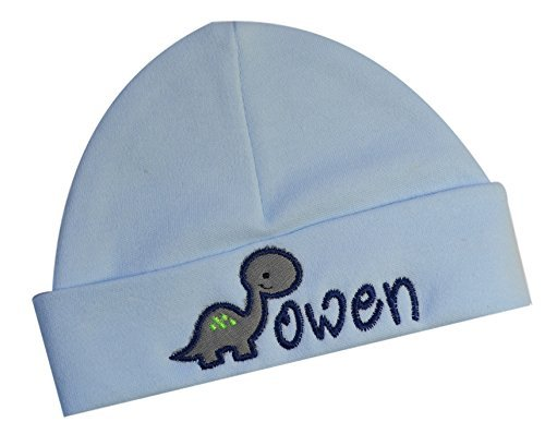 (Embroidered Baby BOY Hat Personalized Keepsake Custom Infant Hat with Dinosaur - Funny Girl)