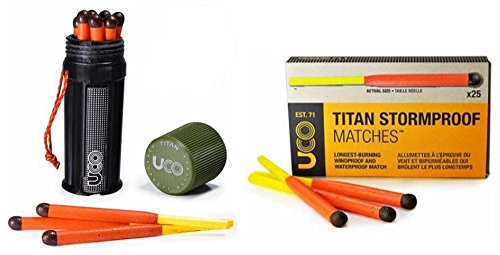 Bundle - 2 Items: 1 Titan Stormproof Match Kit and 1 Box Titan Stormproof Matches ()