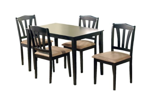 Target Marketing Systems 5-Piece Hamilton Dining Set, Black