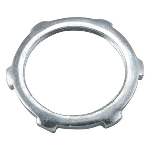 Hubbell-Raco 1196B2 Locknut, Steel, Rigid/IMC Conduit, Non-UL, 1-1/2-Inch, 2-Pack