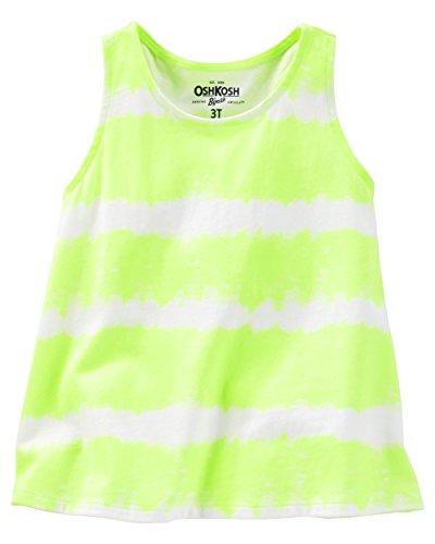 OshKosh Girls Tie Dye Tank, Yellow Neon, 6 (Osh Kosh Cami)
