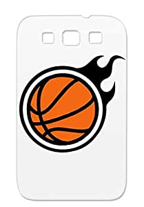 Basketball Ball Flames Fire Basketball Sport With Sports Bronze For Sumsang Galaxy S3 Case Cover