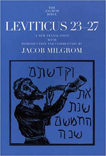 Book Leviticus 23-27 (Anchor Bible Commentaries) (The Anchor Yale Bible Commentaries)