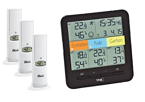 TFA Radio Termo-Higrómetro KLIMAHOME,30.3060.01, Control del Clima