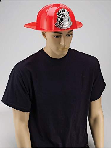 Forum Novelties 68165 Deluxe Fireman's Helmet Adult Accessory, Standard, Red]()