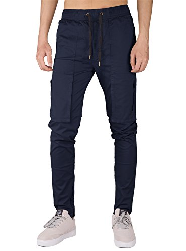 Slim Fit Awoken The Blu Pantaloni Uomo Casual Cotone Chino Scuro Cargo Twill gw8qp