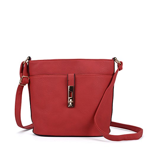 colours Body Designer YOUNG Lock Cross 7 Fashion Red Bag SALLY Women wS7Yzzq
