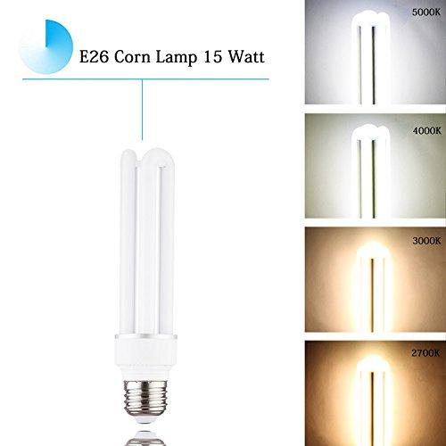 - 15 Watt Corn LED Light Bulbs E26 Base (150 Watt Equivalent Incandescent Light Bulb),3000K Soft White Medium Base 120 Volt 1650 Lumens 360 Beam Angle Outdoor Indoor Lighting – 1 pack