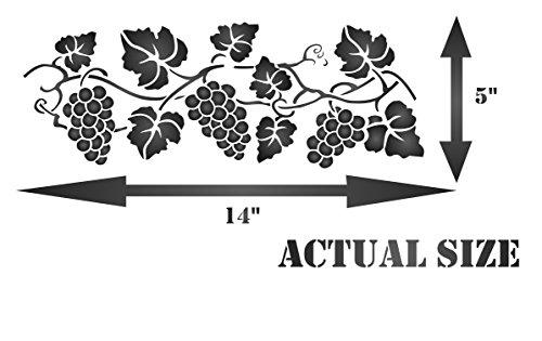 grapevine stencil  size 14 u201dw x 5 u201dh  reusable stencils for painting