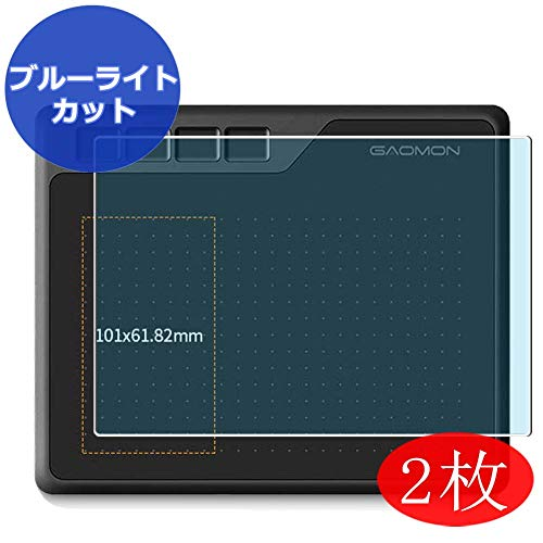 (【2 Pack】 Synvy Anti Blue Light Screen Protector for GAOMON S620 OSU Anti Glare Screen Film Protective Protectors [Not Tempered Glass])