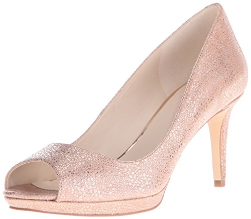 Natural Peep Metallic Toe Gelabelle Women's Pumps Nine West TwnqFY7w