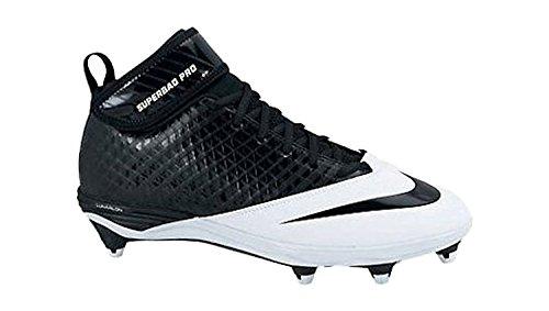 brand new 33e21 8abf3 Nike Lunar Superbad Pro D Football Cleats (13.5, Black Black-White)
