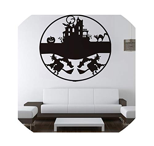 LIUUUU Environmental Protection Halloween Wall Sticker Witch Castle