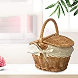 Forart Wicker Picnic Baskets Hamper with Lid and