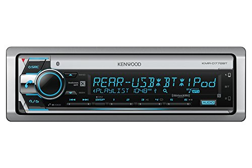 Kenwood KMRD772BT Single DIN Marine Audio USB AUX CD Bluetooth SiriusXM Ready Stereo Receiver