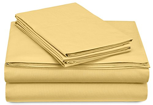 Pinzon 300-Thread-Count Percale Sheet Set - Twin, Straw