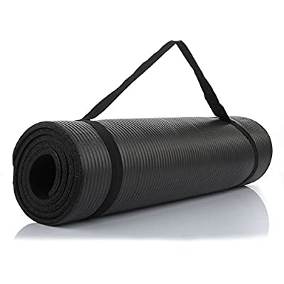 10mm Thick Yoga Mat Exercise Fitness Pilates Camping Gym Meditation Pad Non-Slip