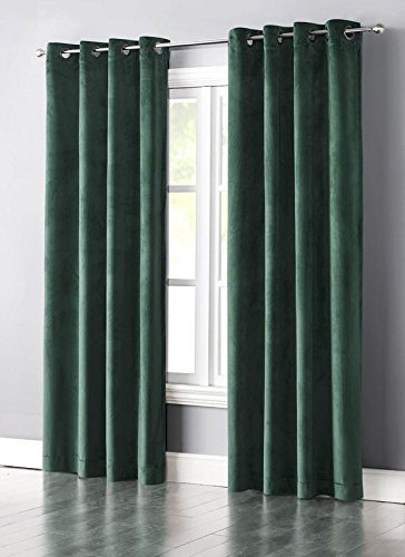 Cheap Wonder-Home 280GSM Luxury Grommet Blackout Velvet Curtain Panel for Living Room, Thermal Insulated Room Darkening Bedroom Curtain, Light & Noise Blocking, 1-pc. Set, 50″x84″