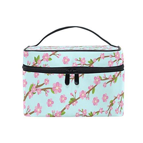 (FAJRO Cherry Blossom cosmetic travel bag Makeup Bag Pouch)