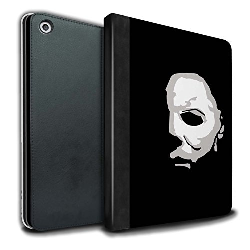 STUFF4 PU Leather Book/Cover Case for Apple iPad 9.7 (2017) Tablets/Michael Myers Inspired Art Design/Horror Movie Art Collection