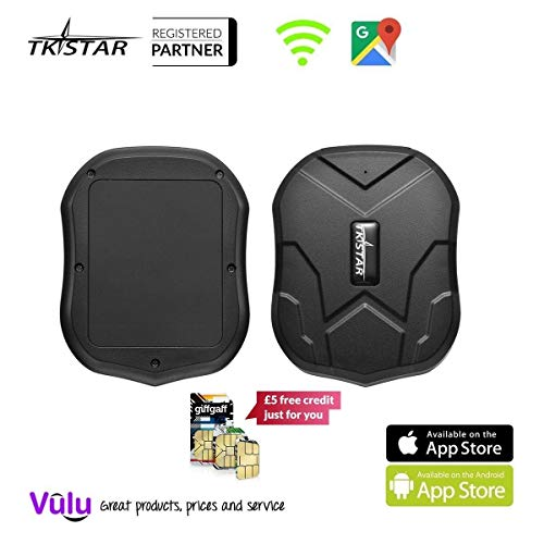 GPS Tracker Long Standby Car Locator GPS Tracker Free App Strong Magnet for Vehicle GPS Tracking Real Time Tracking Device Anti Lost Geo Fence Car Tracker for Cars SUV Motorcycles Trucks Vehicles (Free Gps Tracker For Cars)