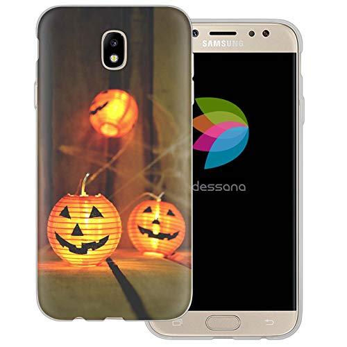 dessana Halloween Transparent Protective Case Phone Cover for Samsung Galaxy J5 (2017) Pumpkin lampion ()