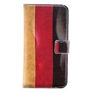 ZXM-Tres Modelo del color de la raya de cuero de la PU con la caja de suave y ranura para tarjeta para la galaxia de Samsung i9600 S5