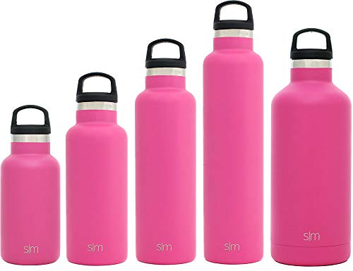Simple Modern 32oz Ascent Water Bottle - Stainless Steel Hydro Swell Flask w/Handle Lid - Metal Double Wall Vacuum Insulated Pink Reusable Tumbler Aluminum 1 Liter Cold Leak Proof - Cotton Candy -  ASC-32-CCP