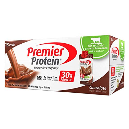 Premier Protein Nutrition High Protein Shake, Chocolate, 18 Count -(11 fl.oz Each)