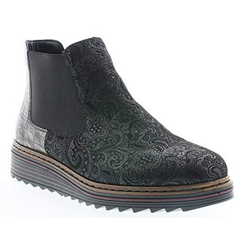 Y6384 Negro Negro Rieker Boots Boots Rieker Rieker Y6384 0AAqE4w