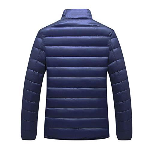 Hiver Marine Bleu Fermeture Bold Chaud Eclair Manteau Doudoune Blouson Parka Malelasse Manner Homme qRCvw76