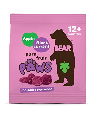BEAR Apple & Blackcurrant Pure Fruit Paws 18 x 20g