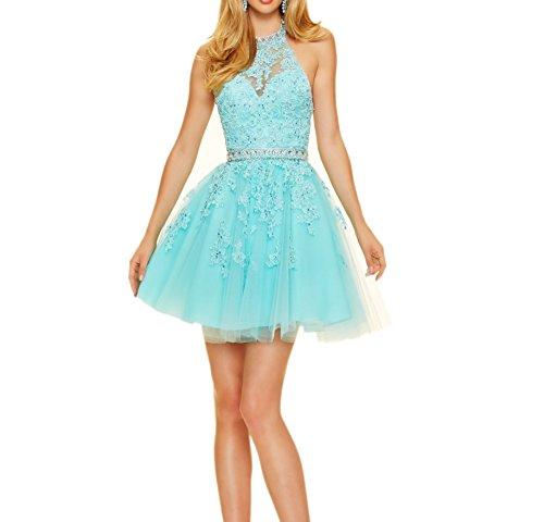 Herrlich Partykleider Abendkleider La Braut Tanzenkleider Cocktailkleider Spitze Rosa Promkleider Mini mia Kurz Blau Yq8Ewx8aF