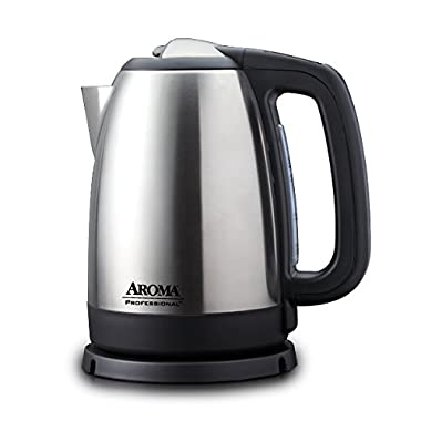 Aroma Housewares AWK-299SD Digital Electric Kettle, 1.7 L, Silver