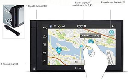 Radio 2 Din Parrot Asteroid Smart - Android - GPS - Comandos Vocales - Deezer - applications: Amazon.es: Electrónica