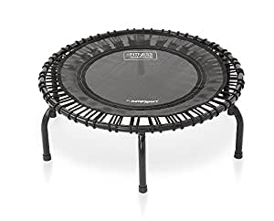 JumpSport 220 | Fitness Trampoline, In-Home Mini Rebounder | Total Body Exercise | Quiet & Safe Bounce | Long Lasting Premium Bungees | Top Rated for Quality & Durability | Music Workout DVD Incl.