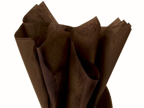 Paper Chocolate Wrapping (Espresso Dark Chocolate 120 Sheets - Gift Wrapping Tissue Paper 15