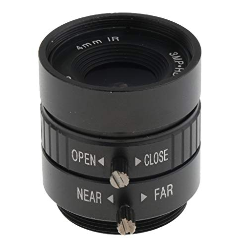 Prettyia 1/2'' 4mm F/1.2 3MP 70Degree AOV IR CS Mount Fixed Iris CCTV Lens for CCD - Cs Fixed Lens Focal Mount