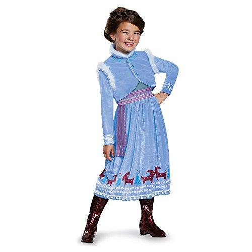 Anna Frozen Adventure Dress Deluxe Costume, Multicolor, Small