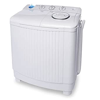 ivation small compact portable washing machine twin tub washer spin with 15 lb. Black Bedroom Furniture Sets. Home Design Ideas