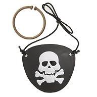 Pirate Eye Patch & Earring Set, 2ct