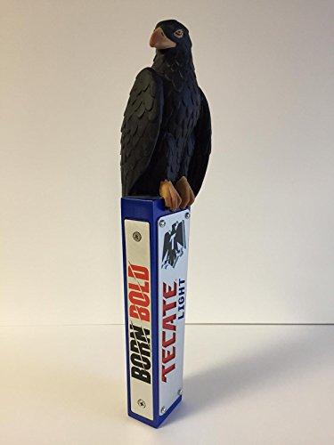 - Tecate Light Beer - Black Eagle Tap Handle - 12