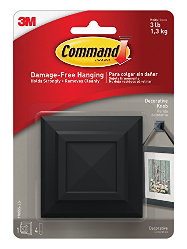 Command Picture Hanging Decorative Square Knob, Medium, for sale  Delivered anywhere in Canada